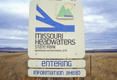 Beginning of Missouri River, Missouri Headwaters State Park,3 Forks,Three Forks, MT Stock Images