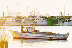 The beginning of a new day fishing Royalty Free Stock Photos