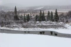 The beginning of October in South Yakutia, Russia Stock Photography