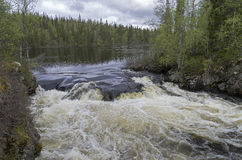 Beginning of the river rapids. Royalty Free Stock Photo