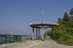 Beginning of the riverside park Ruse along river Danube Stock Photography