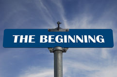 The beginning road sign Royalty Free Stock Photos