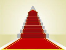 Beginning the road to success on the career ladder stock illustration