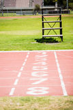 The beginning of the running track Royalty Free Stock Photo