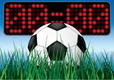 Beginning soccer game. Vector illustartion Stock Image