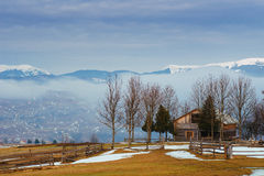 The beginning of spring in the mountains Stock Photography