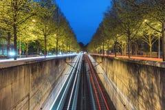 Beginning of U-Bahn tunnel in Hanover Royalty Free Stock Photo