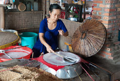 The beginning of Vietnamese Spring Rolls Stock Photo