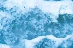 Beginning of winter freezing water. The arrival of winter has provoked freezing water Stock Photography