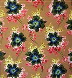 Original textile fabric ornament. Crock is hand-painted with gouache. Beginning of the XX century: Original textile fabric ornament. Crock is hand-painted with Royalty Free Stock Photos