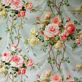 Original textile fabric ornament of the Modern style. Crock is hand-painted with gouache. Royalty Free Stock Image