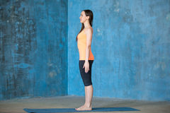 Beginning of yoga workout Stock Images