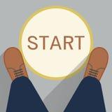Beginpunt Stock Foto's