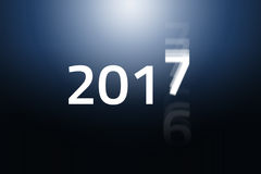 2017 Begins - Blue Gradient. New Year is coming fast and the old year 2016 is fading out. HQ Background and presentation template vector illustration