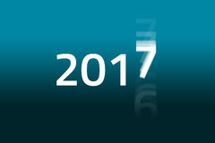 2017 Begins - Dark Cyan Royalty Free Stock Image