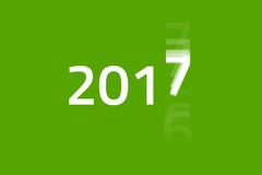 2017 Begins - Green. New Year is coming fast and the old year 2016 is fading out. HQ Background and presentation template vector illustration