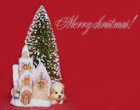 Beglückwünschung zum Weihnachten. Lizenzfreie Stockbilder