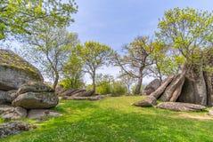 Beglik Tash - formação de rocha da natureza, um santuário pré-histórico da rocha Fotografia de Stock Royalty Free