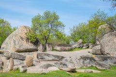 Beglik Tash - formação de rocha da natureza, um santuário pré-histórico da rocha Imagem de Stock Royalty Free
