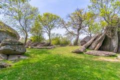 Beglik Tash - formação de rocha da natureza, um santuário pré-histórico da rocha Foto de Stock Royalty Free