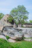 Beglik Tash - formação de rocha da natureza, um santuário pré-histórico da rocha Imagens de Stock Royalty Free