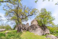 Beglik Tash - formation de roche de nature, un sanctuaire préhistorique de roche Image stock