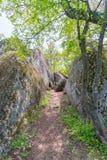 Beglik Tash - formazione rocciosa della natura, un santuario preistorico della roccia Fotografia Stock Libera da Diritti