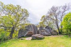 Beglik Tash - formazione rocciosa della natura, un santuario preistorico della roccia Fotografie Stock