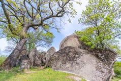 Beglik Tash - formazione rocciosa della natura, un santuario preistorico della roccia Fotografie Stock Libere da Diritti