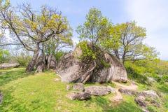 Beglik Tash - formazione rocciosa della natura, un santuario preistorico della roccia Immagini Stock Libere da Diritti