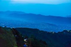 Begnas Tal, Nepal med Annapurnaen Himalaya som är synlig i bakgrunden arkivfoto