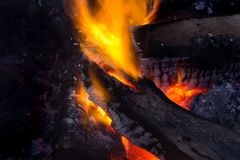 Begräbnis des Feuers Stockfoto