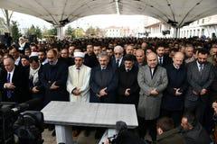 Begräbnis des Journalisten Jamal Khashoggi lizenzfreie stockfotografie