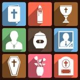 Begräbnis- Ikonen mit langem Schatten Stockfotografie
