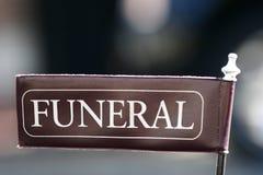 Begräbnis- Markierungsfahne Lizenzfreie Stockfotos