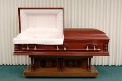 Begräbnis- Schatulle Stockfoto