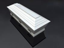 Begräbnis- Schatulle-Weiß,   stockfoto