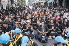 BEGRÄBNIS THAILANDS BANGKOK RAMA 9 lizenzfreie stockfotografie
