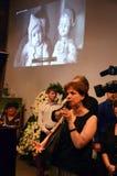 Begräbnis- Valeria Novodvorskaya Stockfoto