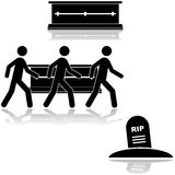 Begräbnis- Zeremonie Lizenzfreies Stockfoto