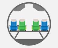 Begränsa vektorn för kroppflygplantvärsnittet stock illustrationer