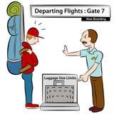 begränsar bagageformat Arkivfoton