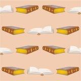 Begränsar gamla böcker för sömlös textur tappningvektorn Arkivbild