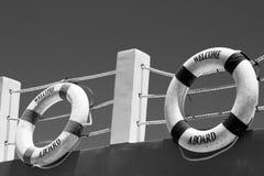 Begrüßen Sie ein Brett! Marinethemahintergrund Lizenzfreie Stockbilder