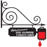 Begrüßen Sie einen Freiwilligen für das Spenden des Bluts lizenzfreie abbildung