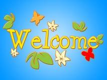 Begrüßungs-Show-Kontakt-Ankunft und Einladung Lizenzfreie Stockfotos