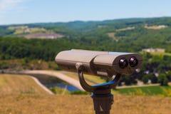 Begrüßungszentrum-Ausblick-Teleskop Pennsylvania-Weg-15 Stockfoto