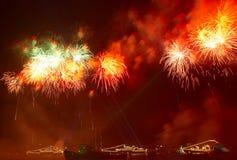 Begrüssen Sie, Feuerwerke stockbilder
