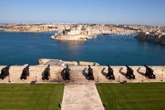 Begrüssenbatterie, Valletta, Malta Lizenzfreies Stockfoto