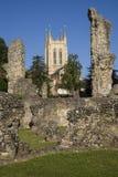 Begraaf St Edmunds Abbey Remains en St Edmundsbury Kathedraal Stock Foto